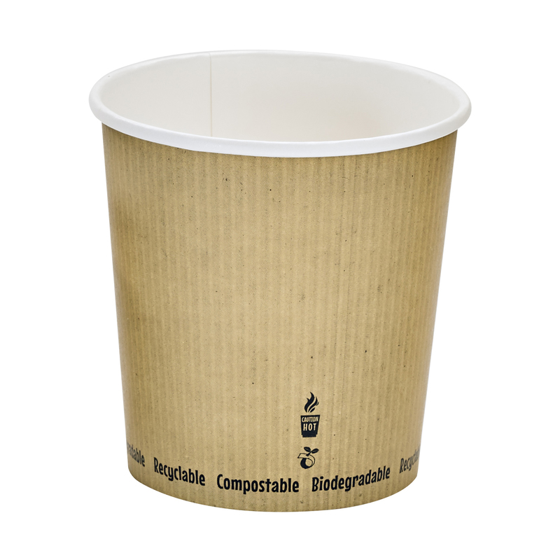 Soup Cup With Rippled Kraft Design - 24oz