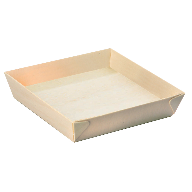 Square Samurai - Wooden Tray - 6.6 x 6.6 x 1.4 in.