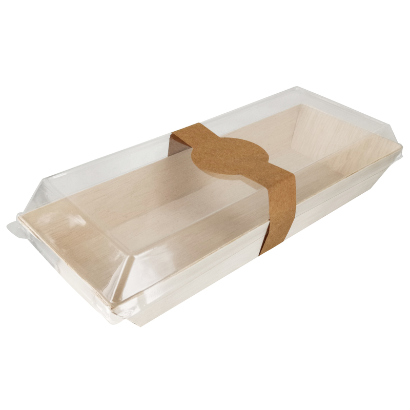 Rectangular Samurai Wooden Tray -14oz  L:8.5 x W:3.4 x H:1.15in