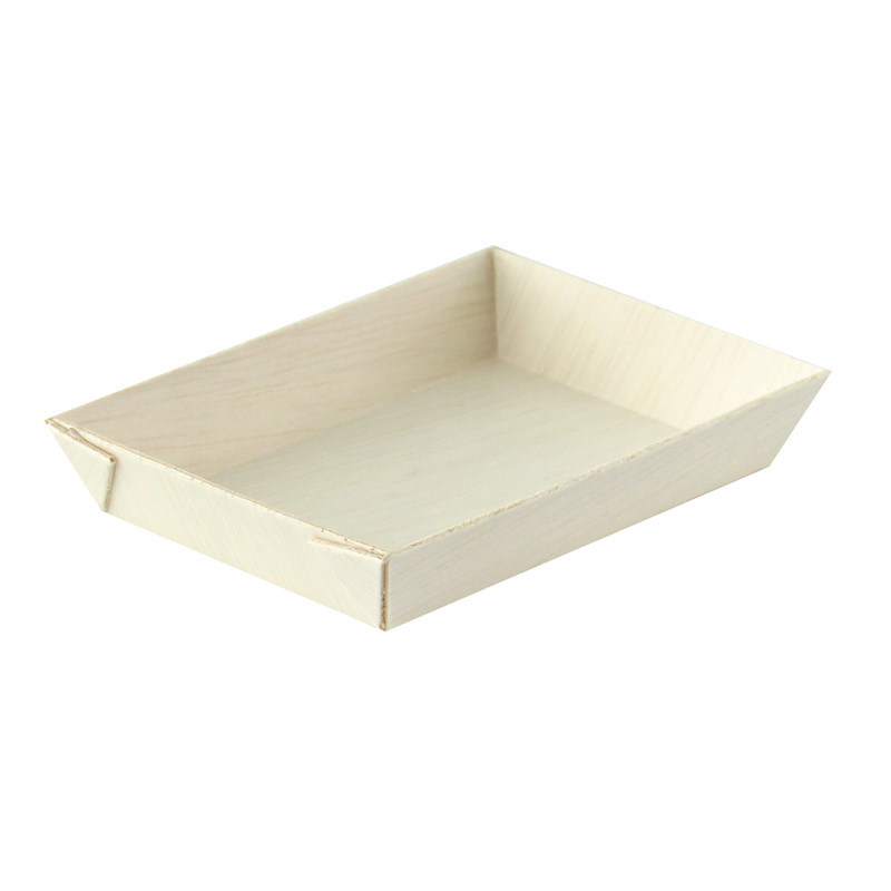 Samurai Mini Rectangular Wooden Tray -  L:3.4 x W:2.4 x H:.6in