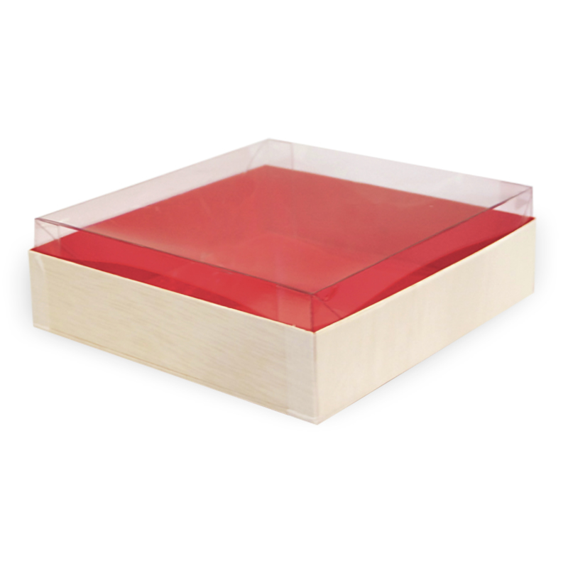 Clear Recyclable Lid for 210SAMRED160 6.10 x 6.10 x 1.96 in