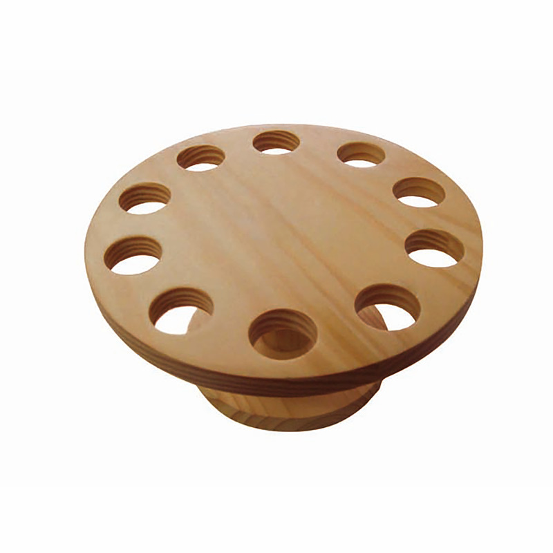 10 Holes Bamboo Cone And Temaki Display - 7 x 3.5 in.