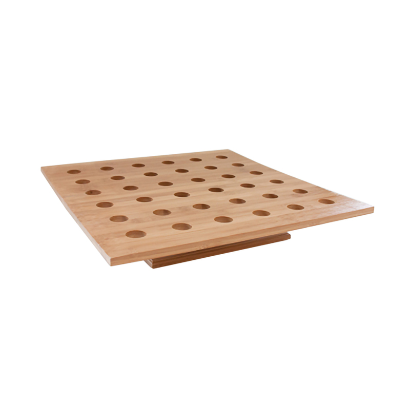 36 Holes Bamboo Cone and Temaki Display Hole Ø: 0.9 in - 15.7 x 15.7 x 3 in
