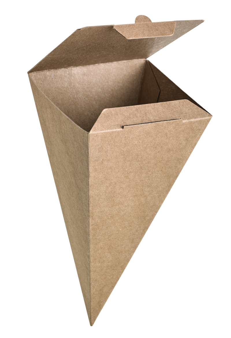 Closeable Kraft Snack Cone - 7.5 in.