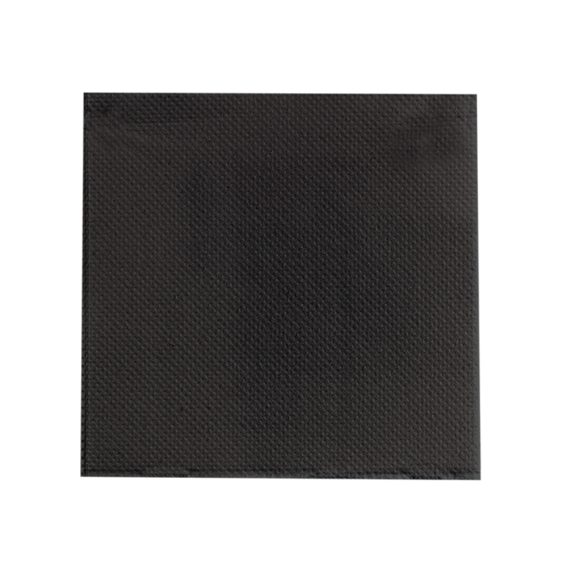 Point to point Black Tissue Napkin - 10x10