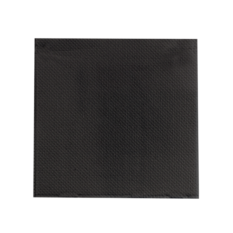 Point to Point Black Tissue Napkin 2 Ply 1/4 Fold - 15 in.