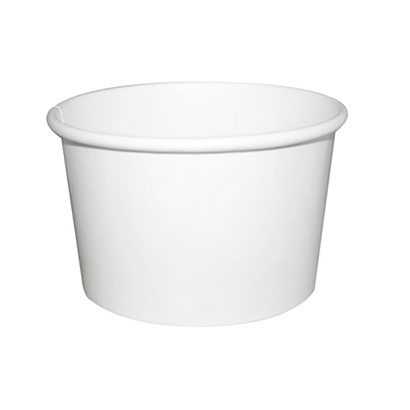 White Ice Cream / Soup Cup 8 oz Ø: 3.3 in H: 2.1 in