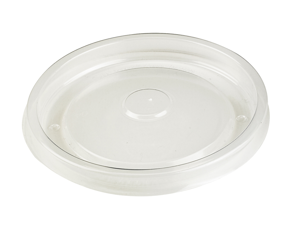 Flat Clear PP Lid For 210SOUP16 And 210SOUP24 - Ø: 3.8 in