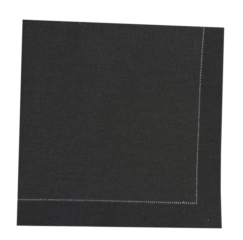 Luxury Black Night Cotton Table Napkin - 15.8 in x 15.8 in