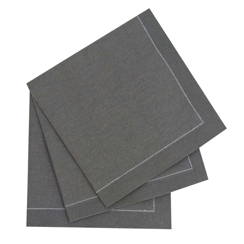 Luxury Silver Grey Cotton Table Napkin - 15.8 in x 15.8 in