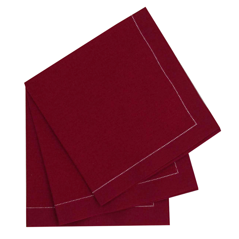 Luxury Red Wine Cotton Table Napkin - 15.8 in x 15.8 in