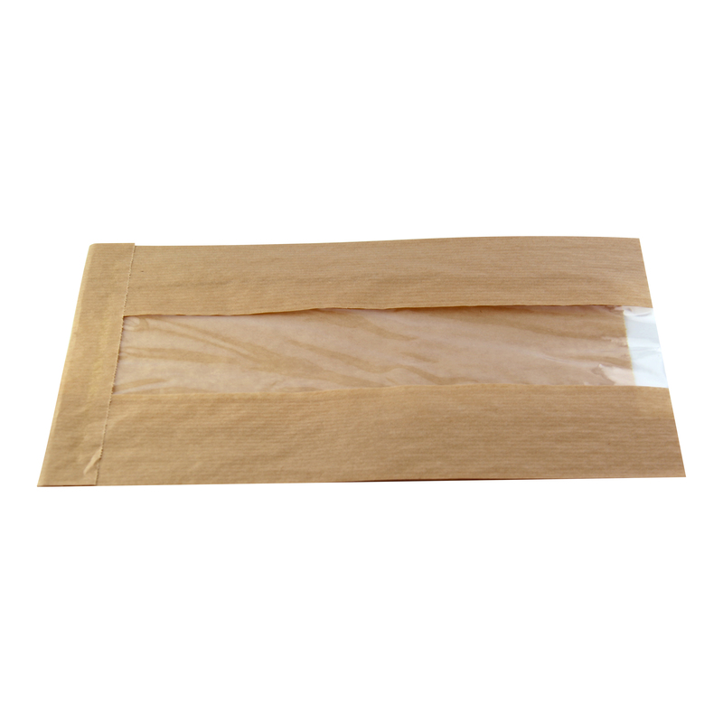 Brown Kraft Bag With Window - 8.7 in.