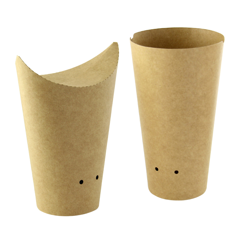 Kraft Closable Perforated Snack Cup - 5.5 in. / Dia: 2.36 in.