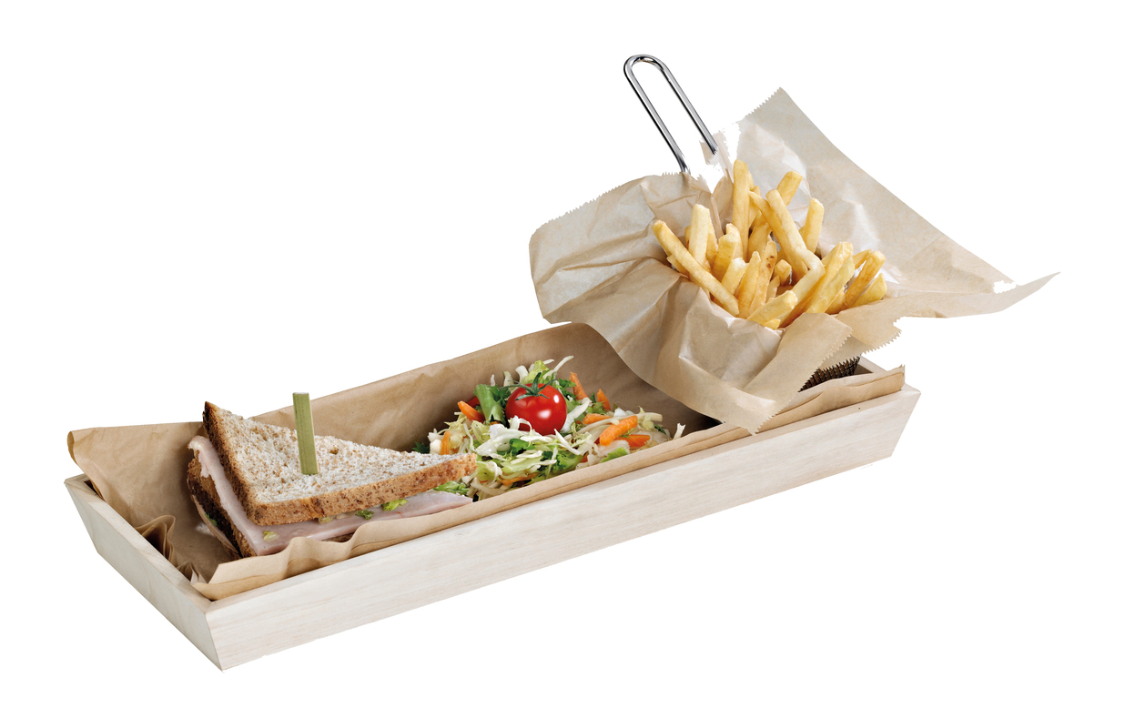 ''NOAH15'' Heavy Duty Wooden Tray - 17 x 7.5 x 1.5 in