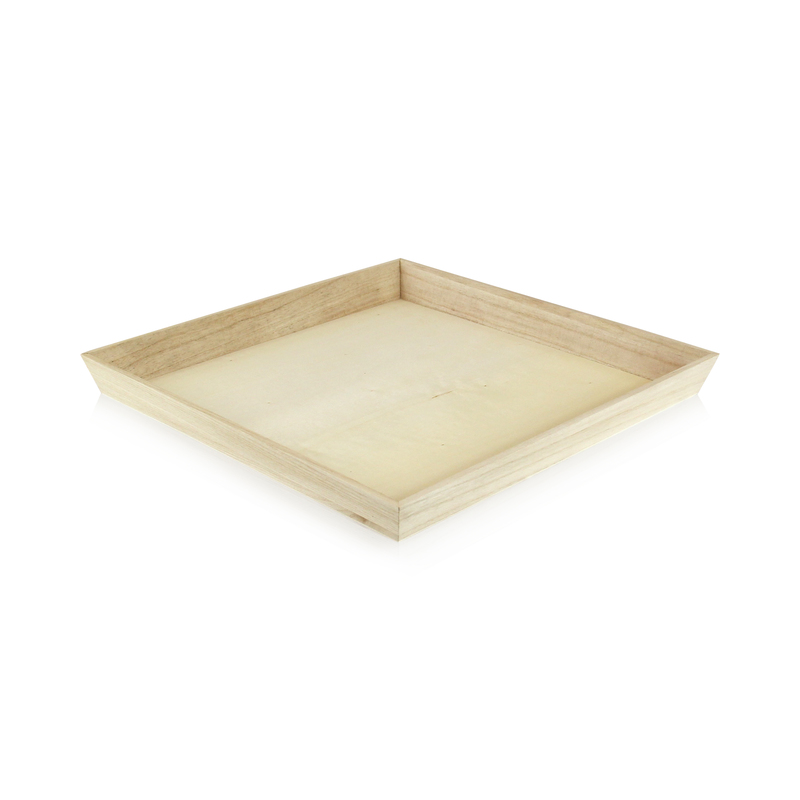 NOAH31 Heavy Duty Wooden Tray -  L:13.55 x W:13.55 x H:1.5in