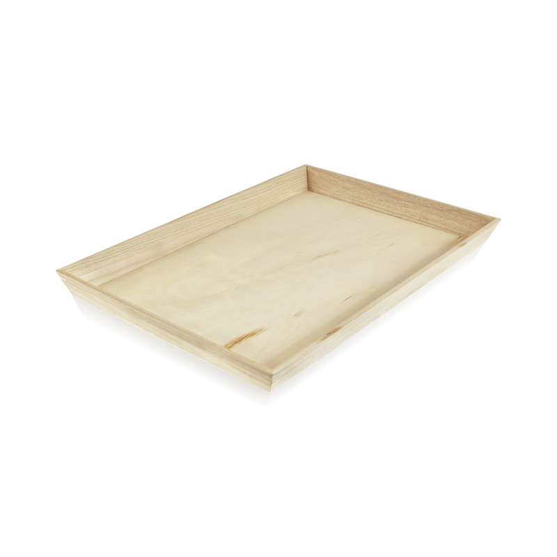 NOAH39 Heavy Duty Wooden Tray -  L:17.1 x W:13.15 x H:1.55in