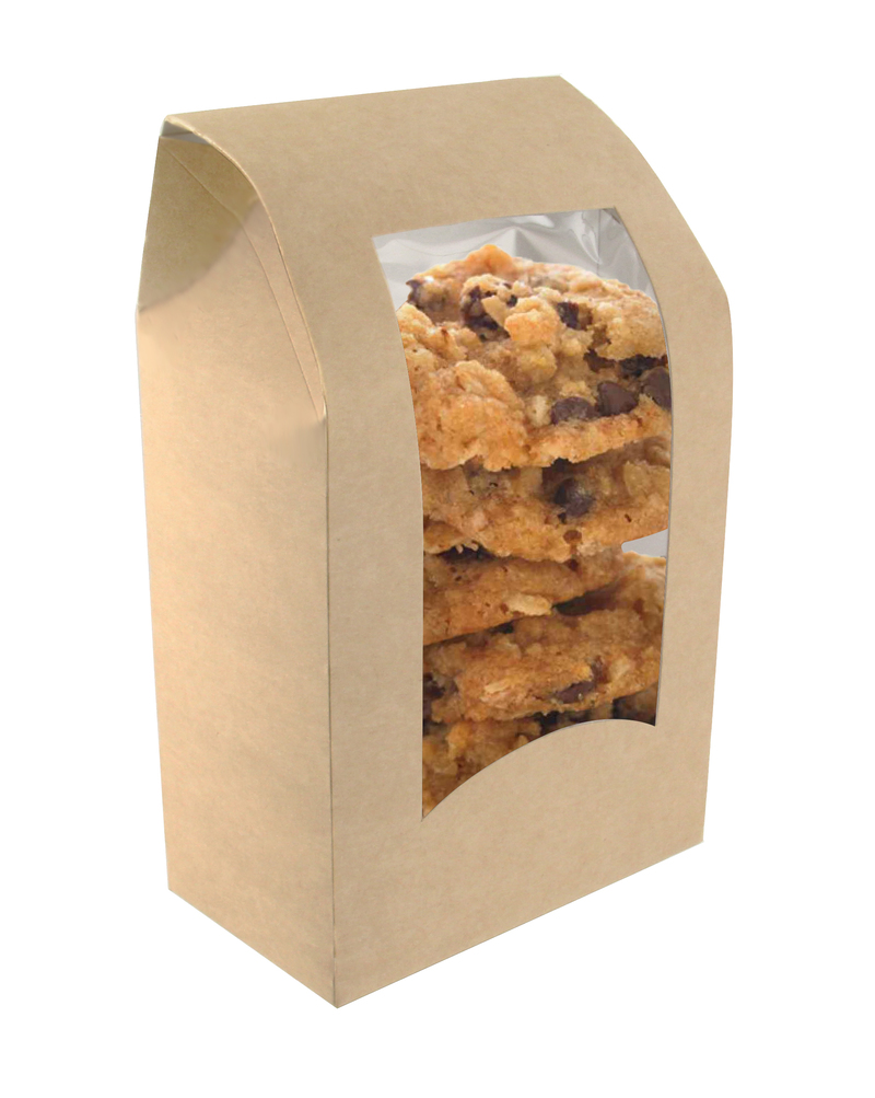 Brown Wrap/Cookie Sleeve With Window - 5.9 x 3.7  x 1.9 in.