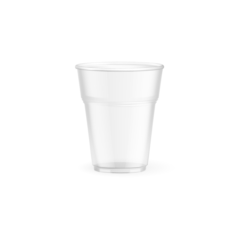 Biodegradable and compostable cold cups(corn)made from (PLA) an Eco friendly corn based resin - 6.5oz