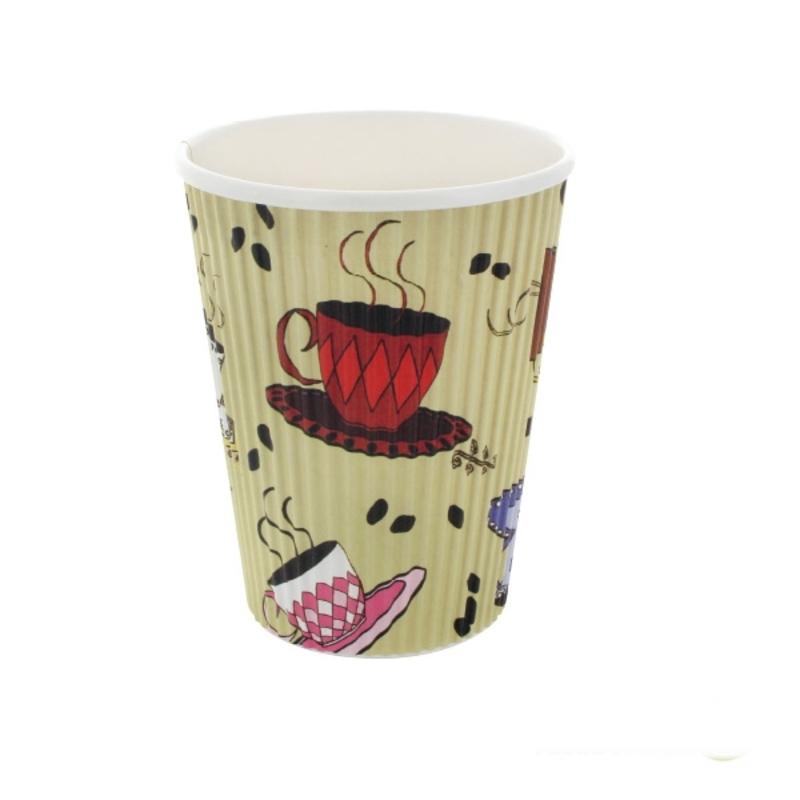Rippled Teacup Design - 12oz