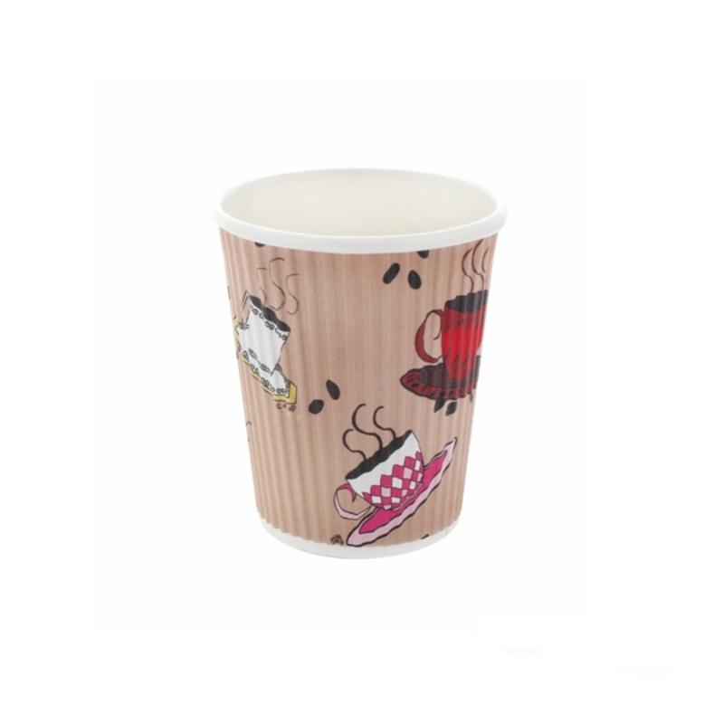 Rippled Teacup Design - 8oz