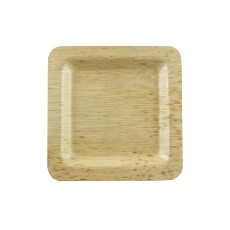 Square Bamboo Leaf Plate 5.9 x 5.9 in
