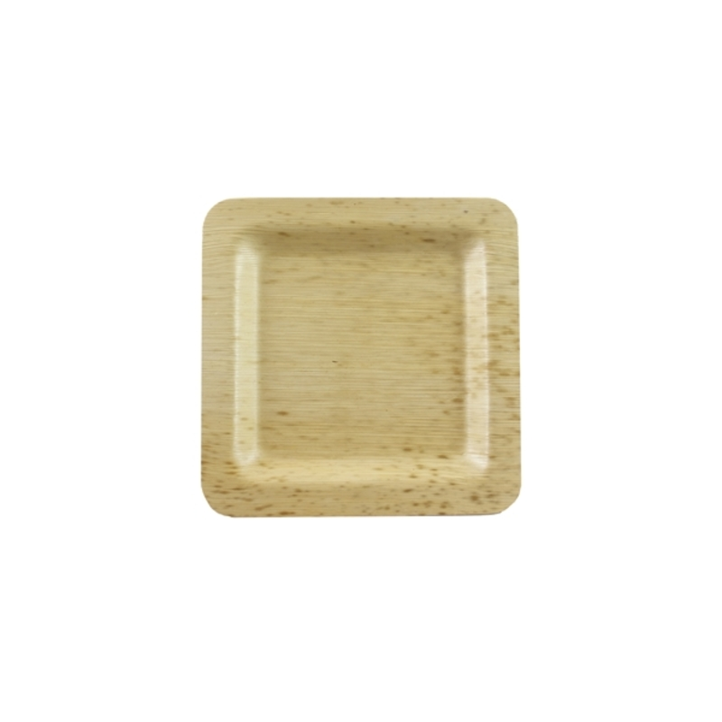 Square Bamboo Leaf Plate 3.5 in