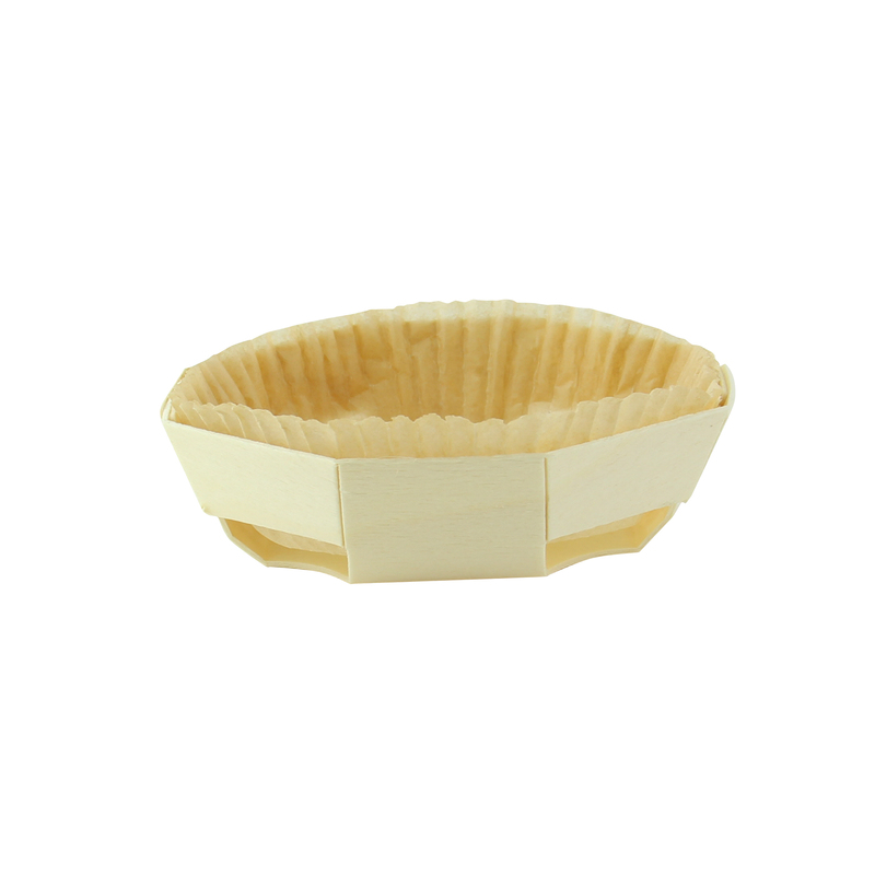 Round baking mold with liner - ⌀: 4.7in H: 1.6in
