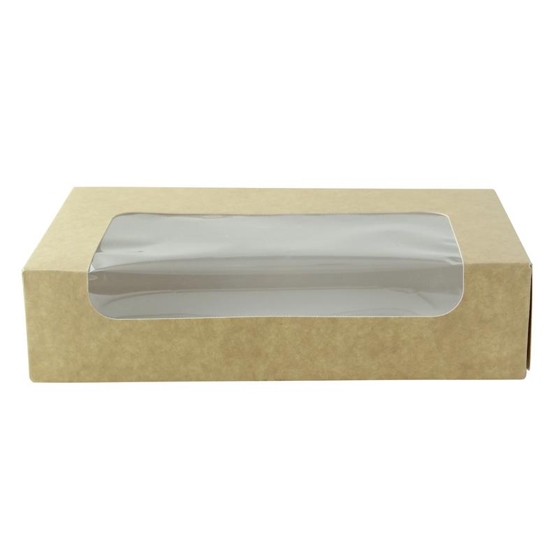 Kraft laminated window box - 7.18 x 4.45in