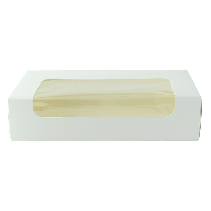 White laminated window box - 7.18 x 4.45in