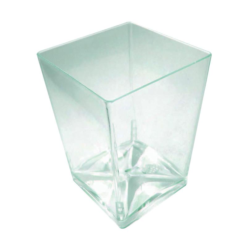 Fani Transparent Green Cup -4.2oz  L:1.95 x W:1.95 x H:2.7in