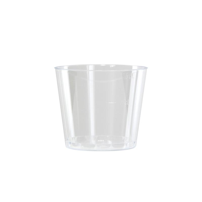 Clear Mini Plastic Cup -6oz Dia:2.9in H:2.45in