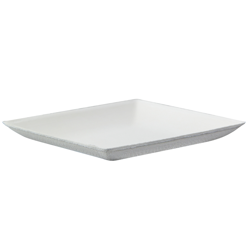 Bio N Chic White Sugarcane Plate -  L:4.4 x W:4.4 x H:.48in