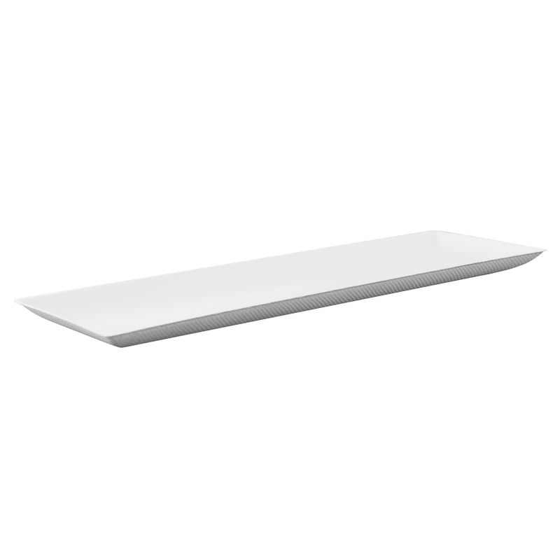 Bio N Chic Rectangular Sugarcane Plate -  L:10.8 x W:3.5 x H:.48in