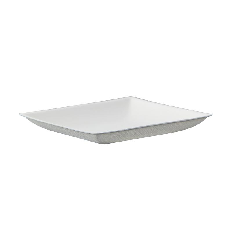 Bionchic Mini White Sugarcane Plate -  L:3.5 x W:3.5 x H:.45in