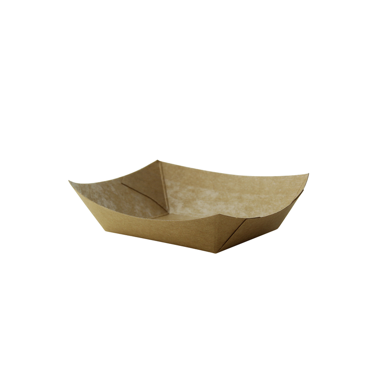 Multi Use Small Kraft Paper Boat -3oz  L:4.55 x W:3 x H:.6in