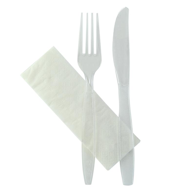 Majesty - Cutlery Clear Kit 3/1 - Knife, Fork, Napkin