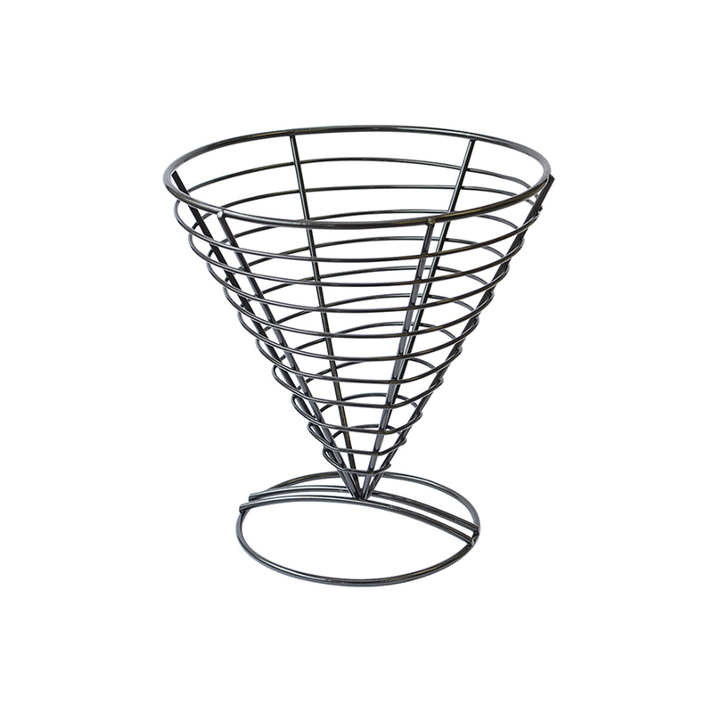Round Black Steel Basket - 7 in.