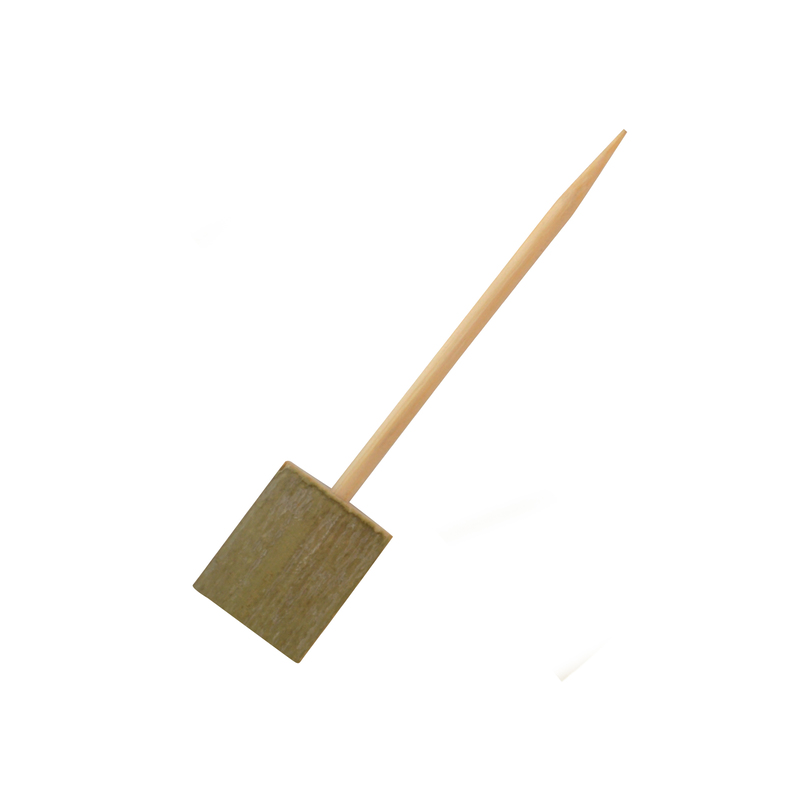 Boot Single Prong Bamboo Skewer With Block End -  L:3.9in
