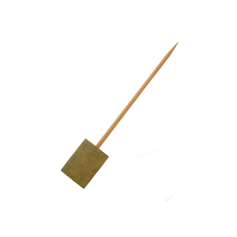 Boot Single Prong Bamboo Skewer With Block End -  L:6in