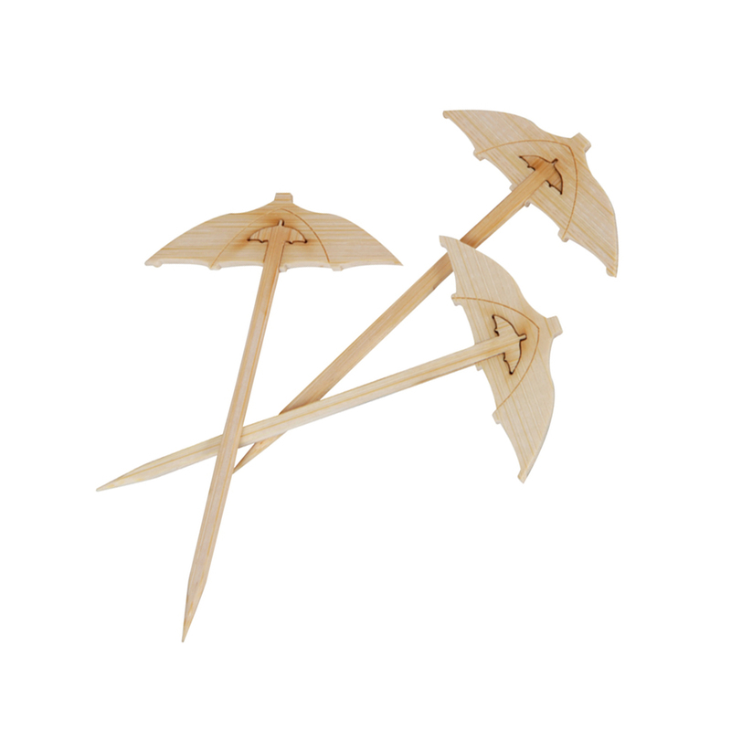 Chiba Bamboo Umbrella Pick -  L:3.55in