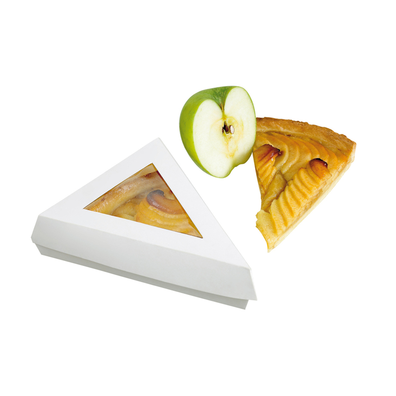 White Slice Box With Pe Window Lid -12oz  6.7 x 5.1 in.