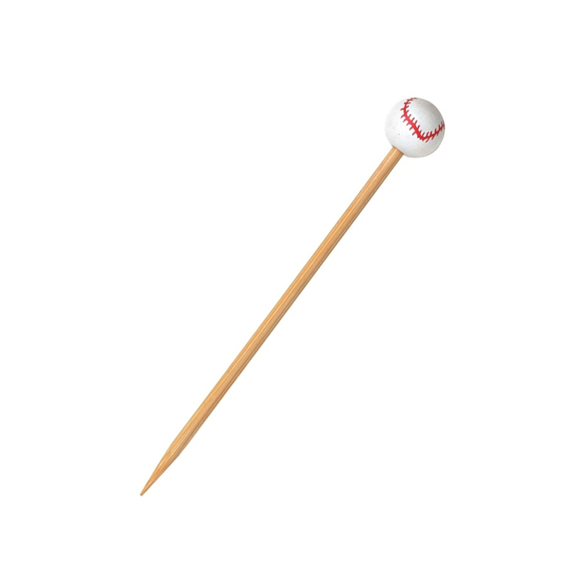 Bamboo Baseball Skewers -  L:4.8in