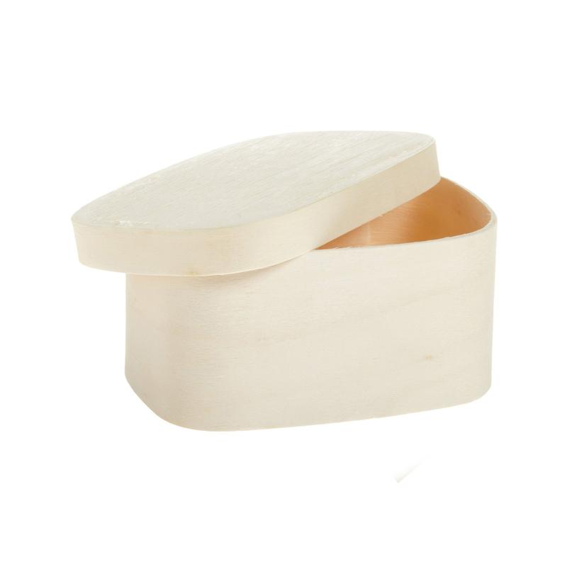 Rectangular Wood Box 8 oz - 4.3 x 3 x 2 in