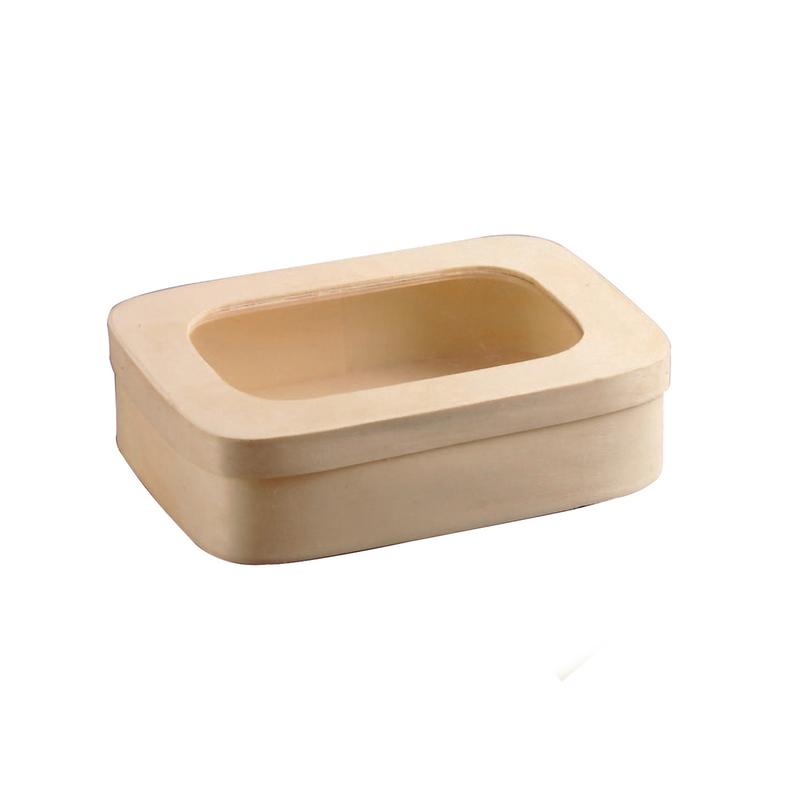 Rectangular Wood Box with Window 28 oz - 7 x 5 x 2 in