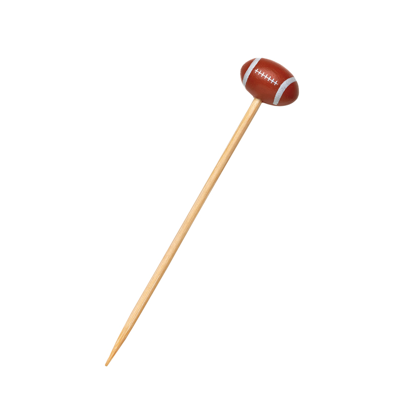 Bamboo Football Skewers -  L:4.7in