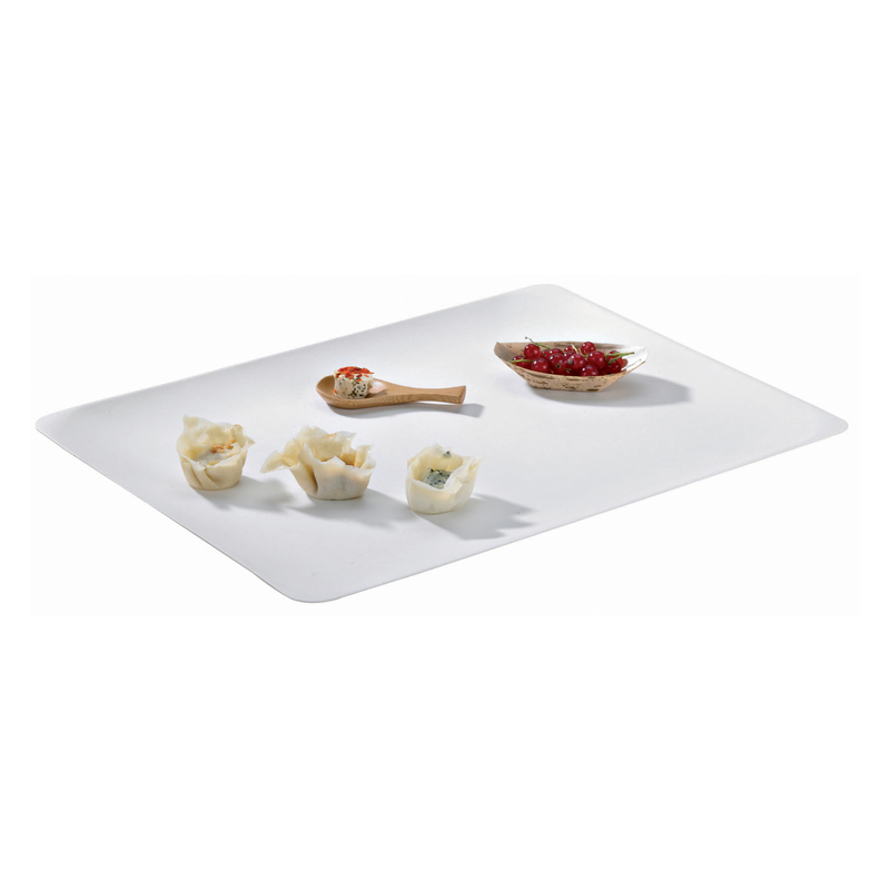 Bionchic White Sugarcane Serving Platter -  L:15.45 x W:11.5 x H:.45in