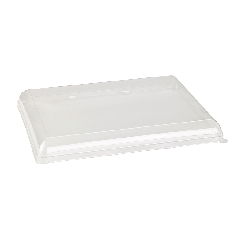 Clear PET Lid for 210BCHIC3929 -  L:15.5 x W:11.5 x H:1.6in