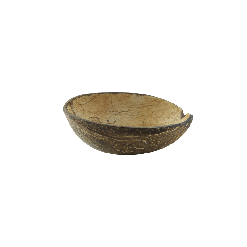 Round coconut bowl without polished - 3.4-5oz