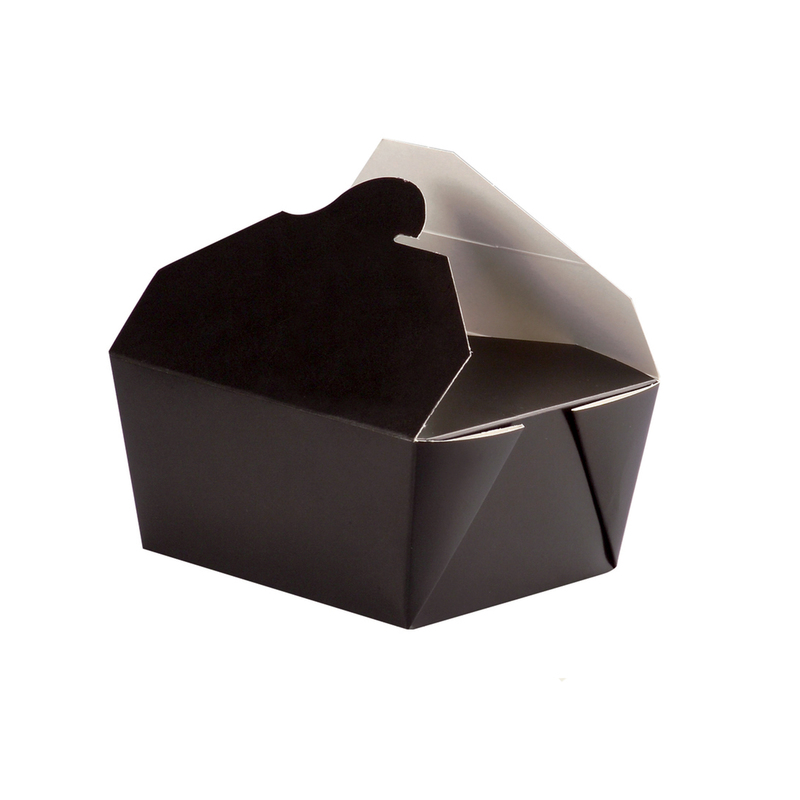 Black Cardboard Meal Boxes - 8.46 in.