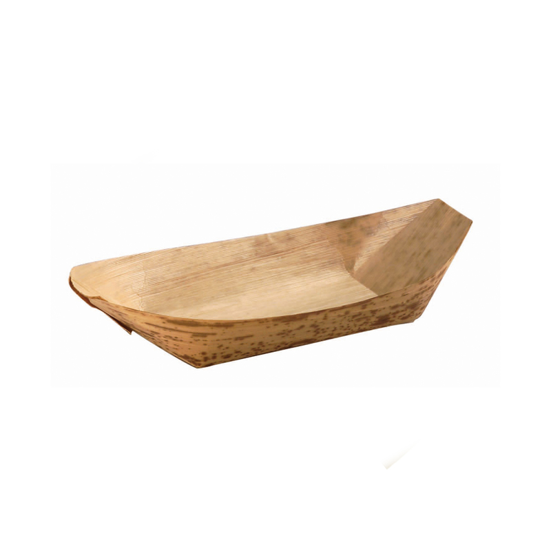 Bamboo Leaf Boat -2oz  L:5.2 x W:2.27 x H:.55in
